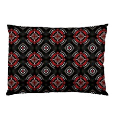 Abstract Black And Red Pattern Pillow Case