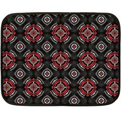 Abstract Black And Red Pattern Double Sided Fleece Blanket (Mini)
