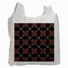 Abstract Black And Red Pattern Recycle Bag (one Side)