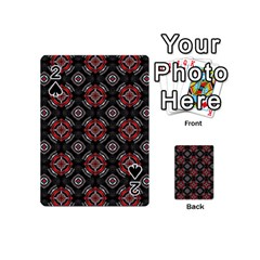 Abstract Black And Red Pattern Playing Cards 54 (mini)