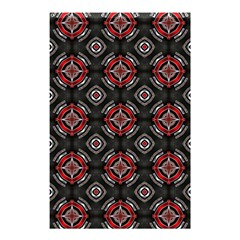 Abstract Black And Red Pattern Shower Curtain 48  X 72  (small)