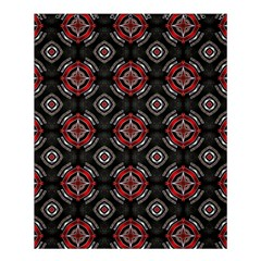 Abstract Black And Red Pattern Shower Curtain 60  X 72  (medium)