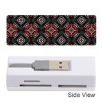 Abstract Black And Red Pattern Memory Card Reader (Stick)  Front