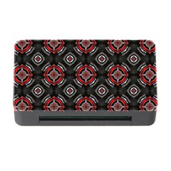 Abstract Black And Red Pattern Memory Card Reader With Cf
