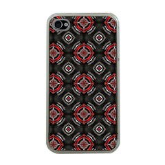 Abstract Black And Red Pattern Apple Iphone 4 Case (clear)