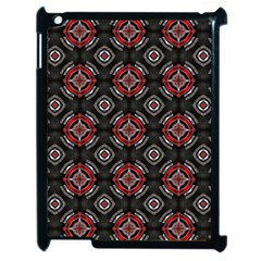 Abstract Black And Red Pattern Apple iPad 2 Case (Black)