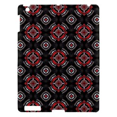 Abstract Black And Red Pattern Apple Ipad 3/4 Hardshell Case
