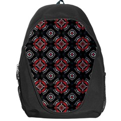 Abstract Black And Red Pattern Backpack Bag