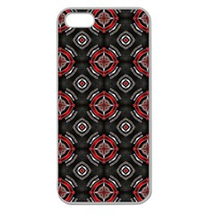 Abstract Black And Red Pattern Apple Seamless Iphone 5 Case (clear)