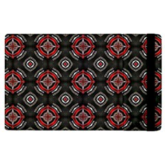 Abstract Black And Red Pattern Apple Ipad 2 Flip Case