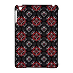 Abstract Black And Red Pattern Apple Ipad Mini Hardshell Case (compatible With Smart Cover)