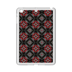 Abstract Black And Red Pattern Ipad Mini 2 Enamel Coated Cases