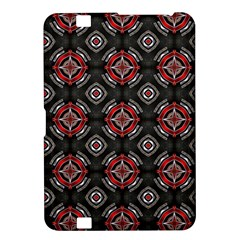 Abstract Black And Red Pattern Kindle Fire Hd 8 9