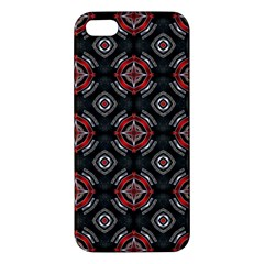 Abstract Black And Red Pattern Apple Iphone 5 Premium Hardshell Case