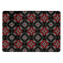 Abstract Black And Red Pattern Samsung Galaxy Tab 10 1  P7500 Flip Case