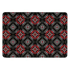 Abstract Black And Red Pattern Samsung Galaxy Tab 8 9  P7300 Flip Case