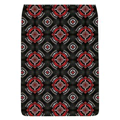 Abstract Black And Red Pattern Flap Covers (l)