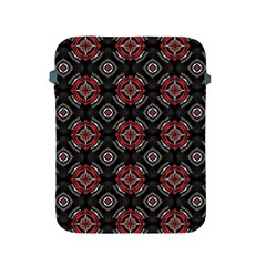 Abstract Black And Red Pattern Apple Ipad 2/3/4 Protective Soft Cases
