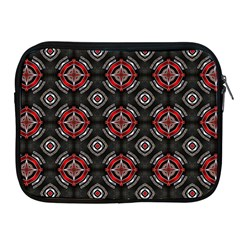 Abstract Black And Red Pattern Apple Ipad 2/3/4 Zipper Cases