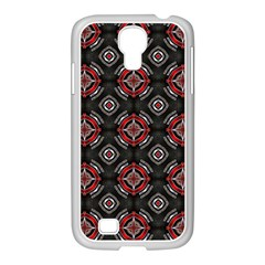 Abstract Black And Red Pattern Samsung Galaxy S4 I9500/ I9505 Case (white)
