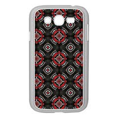 Abstract Black And Red Pattern Samsung Galaxy Grand Duos I9082 Case (white)