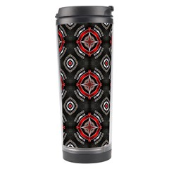 Abstract Black And Red Pattern Travel Tumbler
