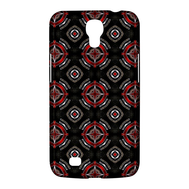 Abstract Black And Red Pattern Samsung Galaxy Mega 6.3  I9200 Hardshell Case