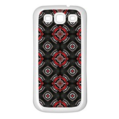 Abstract Black And Red Pattern Samsung Galaxy S3 Back Case (white)