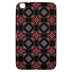 Abstract Black And Red Pattern Samsung Galaxy Tab 3 (8 ) T3100 Hardshell Case