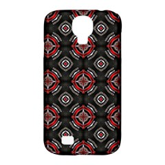 Abstract Black And Red Pattern Samsung Galaxy S4 Classic Hardshell Case (pc+silicone)
