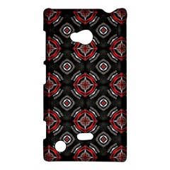 Abstract Black And Red Pattern Nokia Lumia 720