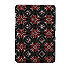 Abstract Black And Red Pattern Samsung Galaxy Tab 2 (10 1 ) P5100 Hardshell Case
