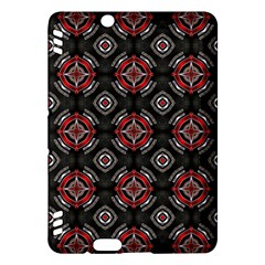 Abstract Black And Red Pattern Kindle Fire Hdx Hardshell Case