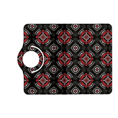 Abstract Black And Red Pattern Kindle Fire Hd (2013) Flip 360 Case