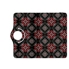 Abstract Black And Red Pattern Kindle Fire Hdx 8 9  Flip 360 Case