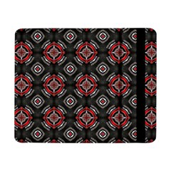 Abstract Black And Red Pattern Samsung Galaxy Tab Pro 8 4  Flip Case