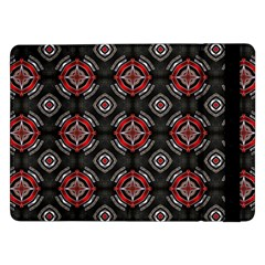 Abstract Black And Red Pattern Samsung Galaxy Tab Pro 12 2  Flip Case