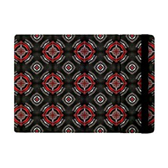 Abstract Black And Red Pattern Ipad Mini 2 Flip Cases