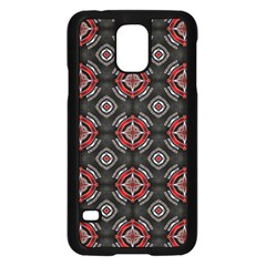 Abstract Black And Red Pattern Samsung Galaxy S5 Case (black)
