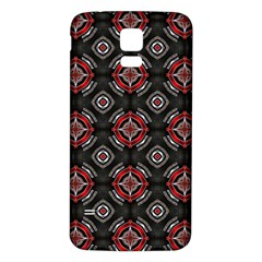 Abstract Black And Red Pattern Samsung Galaxy S5 Back Case (white)