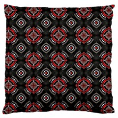 Abstract Black And Red Pattern Large Flano Cushion Case (one Side)