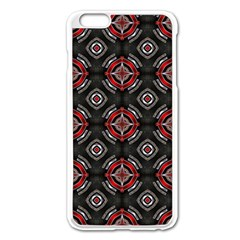 Abstract Black And Red Pattern Apple Iphone 6 Plus/6s Plus Enamel White Case