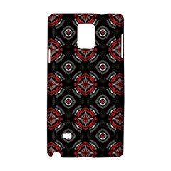 Abstract Black And Red Pattern Samsung Galaxy Note 4 Hardshell Case