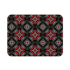 Abstract Black And Red Pattern Double Sided Flano Blanket (mini)