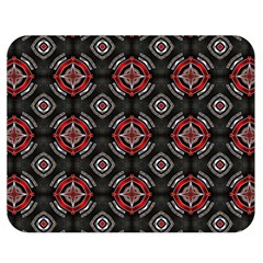 Abstract Black And Red Pattern Double Sided Flano Blanket (medium)