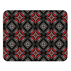 Abstract Black And Red Pattern Double Sided Flano Blanket (large)