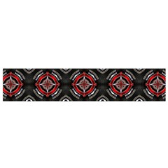 Abstract Black And Red Pattern Flano Scarf (small)