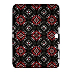 Abstract Black And Red Pattern Samsung Galaxy Tab 4 (10 1 ) Hardshell Case