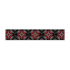 Abstract Black And Red Pattern Flano Scarf (mini)