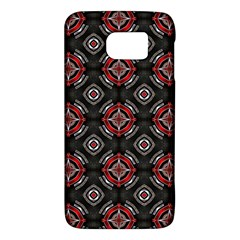 Abstract Black And Red Pattern Galaxy S6